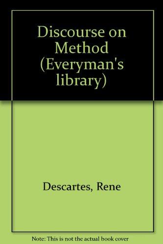 9780460871266: Discourse on Method