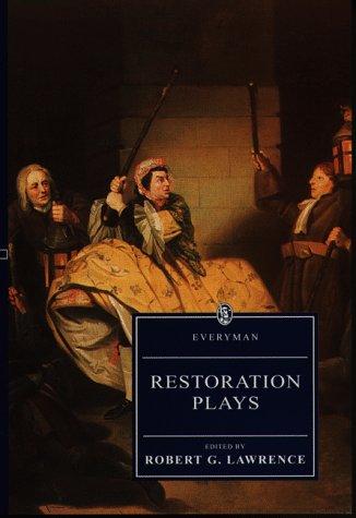 9780460874328: Restoration Plays (Everyman)