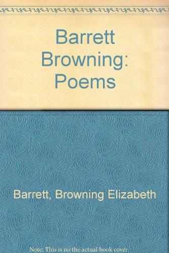 Poems (9780460877756) by Elizabeth Barrett Browning