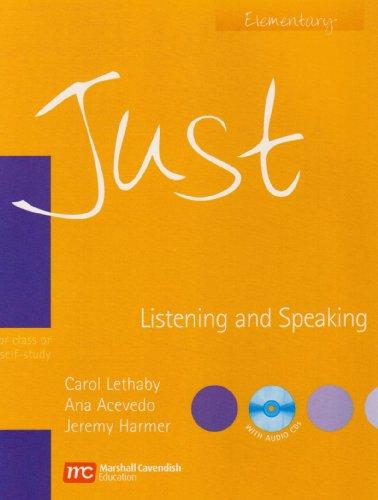 Just Listening and Speaking Elementary (Just Skills: Lethaby, Carol, Acevedo,