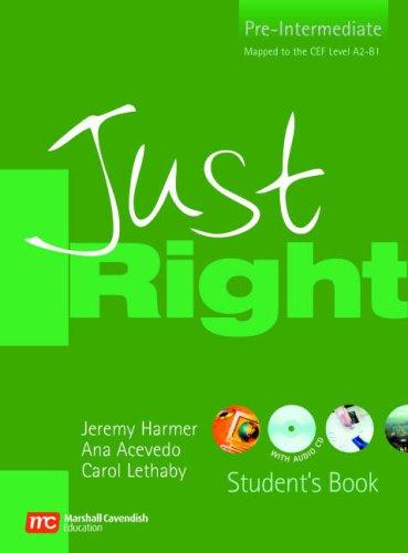 9780462007366: Just right. Pre-intermediate. Student's book. Con CD Audio. Per le Scuole superiori: Pre-intermediate British English Version (Just Right Course)