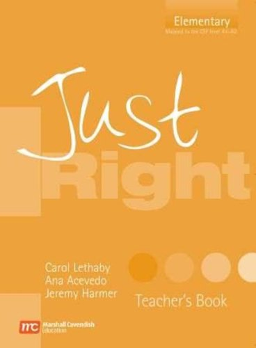 9780462007816: Just Right Teacher's Book: Elementary British English Version (Just Right Course)