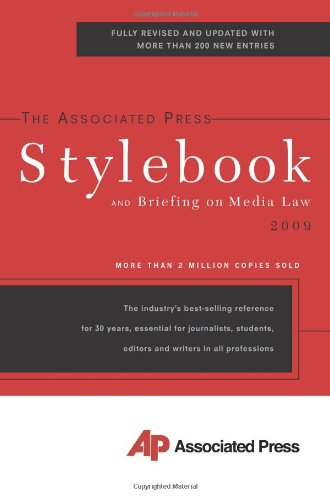 9780465012626: The Associated Press Stylebook 2009 (Associated Press Stylebook and Briefing on Media Law)