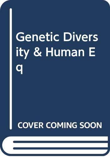 9780465026715: Genetic Diversity & Human Eq (The John Dewey Society lecture no. 13)