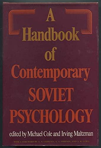 9780465028573: Handbook of Contemporary Soviet Psychology