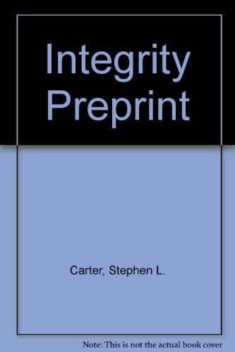 9780465034680: Integrity Preprint