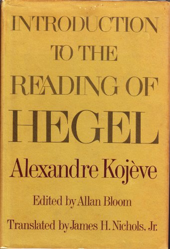 9780465035724: Introduction to the Reading of Hegel