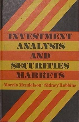 9780465035946: Invest Anal Securites Markts