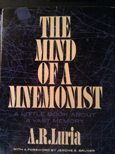 9780465046157: The Mind of a Mnemonist: A Little Book About a Vast Memory