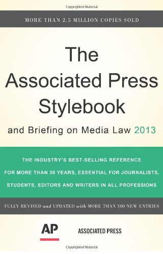 9780465082995: The Associated Press Stylebook 2013 (Associated Press Stylebook and Briefing on Media Law)