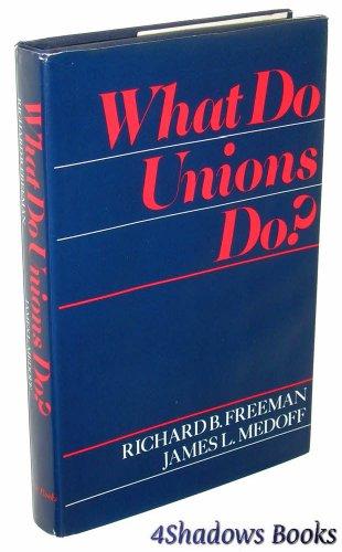 9780465091331: What Do Unions Do?
