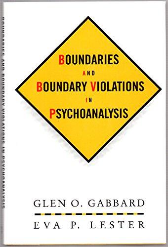 9780465095773: Boundaries and Boundary Violations in Psychoanalysis