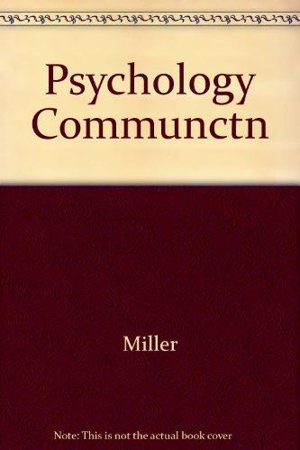 9780465097074: The Psychology of Communication
