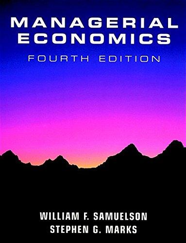Managerial Economics: William F. Samuelson,