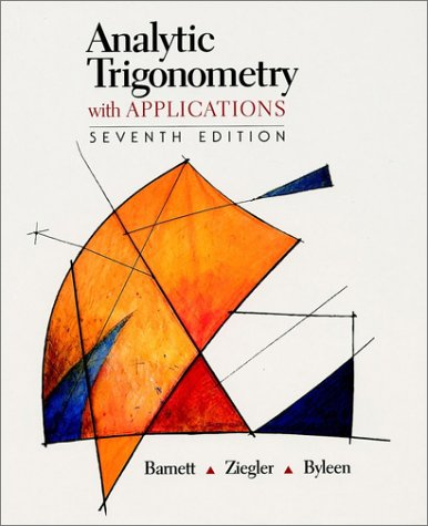 9780470000960: Analytic Trigonometry with Applications