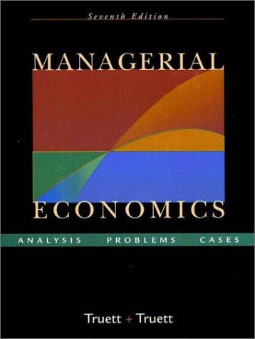 9780470003374: Managerial Economics: Analysis, Problems, Cases