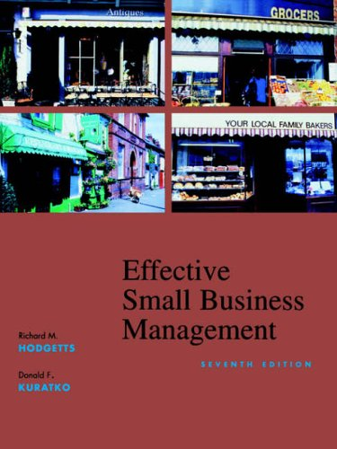 9780470003435: Effective Small Business Management: Wiley Student Edition