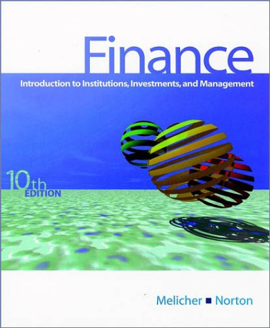 9780470003947: Finance - Introduction to Institutions, Investments & Management 10e (Wse)