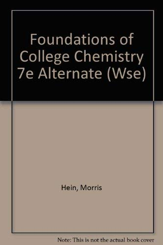 9780470004081: Foundations of College Chemistry