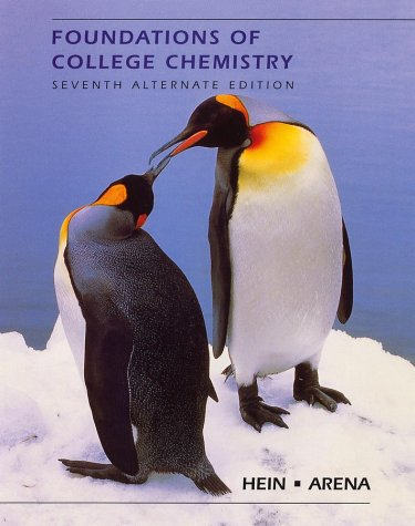 9780470004289: Foundations of College Chemistry