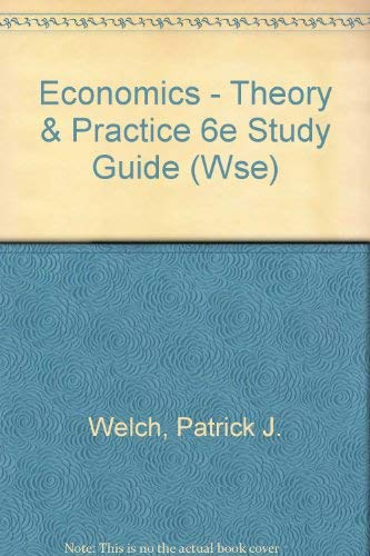 9780470004401: Study Guide to Accompany Economics: Theory and Practice