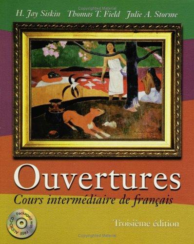 9780470004418: Ouvertures: Cours Intermediaire De Francais