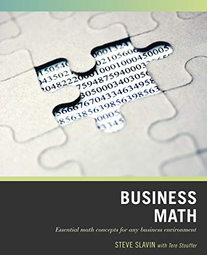 9780470007198: Wiley Pathways Business Math
