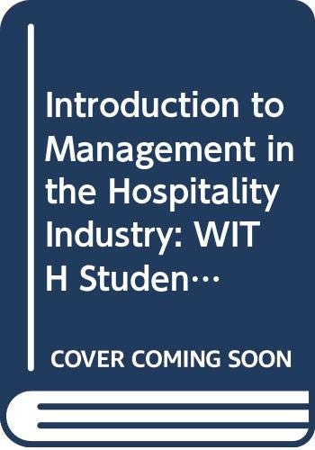 9780470007877: Introduction to Management in the Hospitality Industry: WITH Student Access Card for WebCT