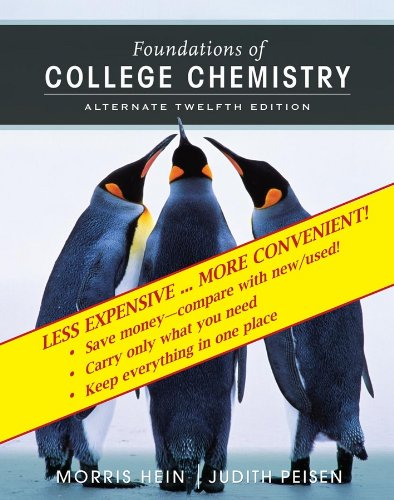 9780470008119: Foundations of College Chemistry, Binder Ready Version