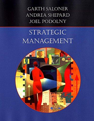 Strategic Management: Saloner, Garth; Shepard,