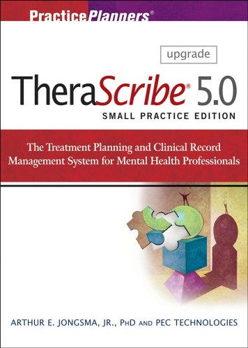 9780470009567: Therascribe 5.0: The Treatment Planning and Clinical Record Management System for Mental Health Professionals, Solo and Small Practice Edition, Upgrade: Upgrade Version (Practiceplanners?)
