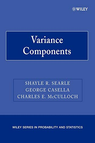 9780470009598: Variance Components (Wiley Series in Probability and Statistics)