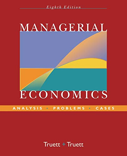 9780470009932: Managerial Economics: Analysis, Problems, Cases