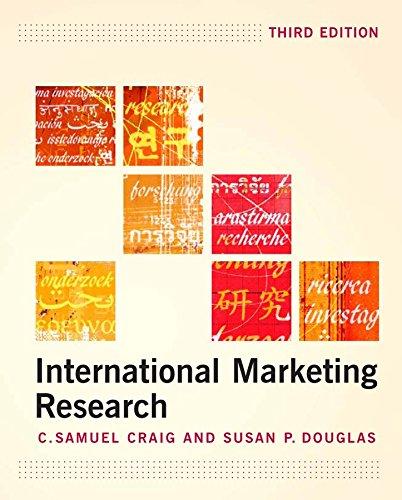 9780470010952: International Marketing Research