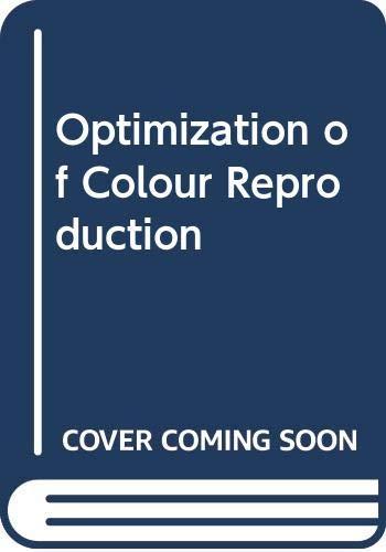9780470013625: Optimization of Colour Reproduction