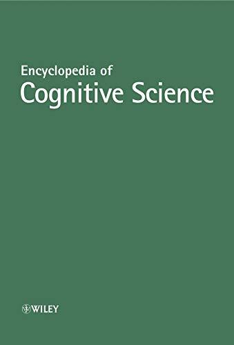 9780470016190: Encyclopedia of Cognitive Science, 4 Volume Set