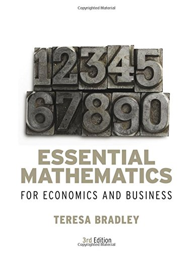 9780470018569: Essential Mathematics for Economics and Business
