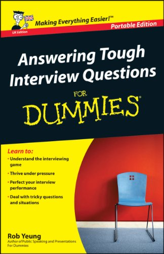 9780470019030: Answering Tough Interview Questions For Dummies