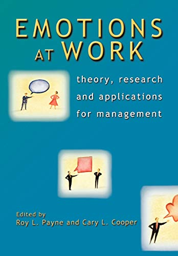 9780470023006: Emotions At Work: Theory, Research And Applications For Management