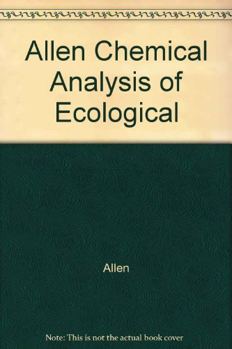 9780470023181: Allen Chemical Analysis of Ecological