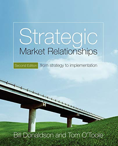 9780470028803: Strategic Market Relationships: From Strategy to Implementation