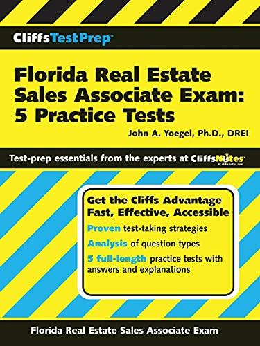 9780470037003: CliffsTestPrep Florida Real Estate Sales Associate Exam: 5 Practice Tests