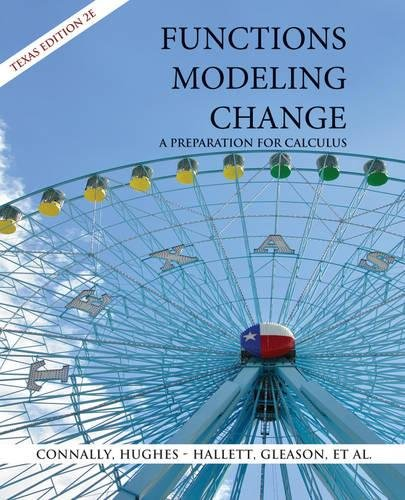 9780470039199: Functions Modeling Change: A Preparation for Calculus