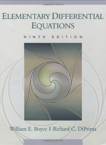 9780470039403: Elementary Differential Equations