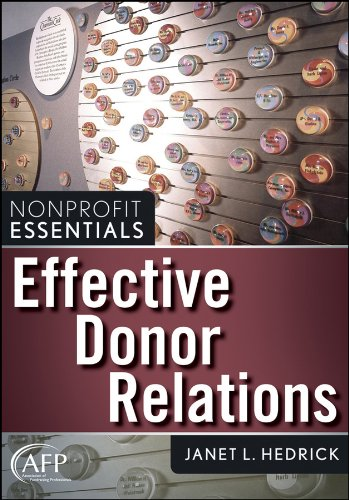9780470040362: Effective Donor Relations