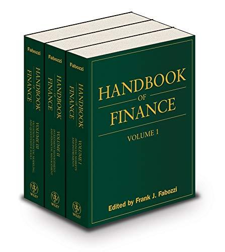 9780470042564: Handbook of Finance, , 3 Volume Set