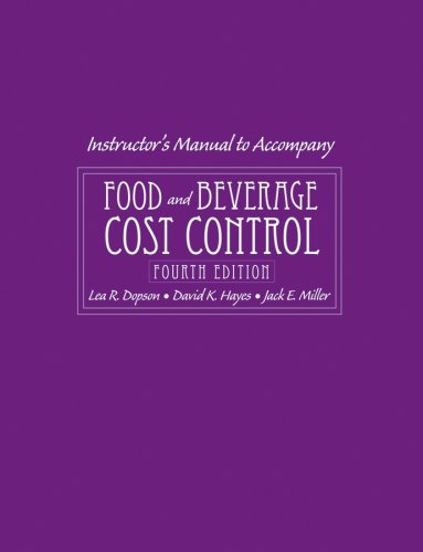 9780470045077: Instructor's Manual to Accompany Food and Beverage Cost Control