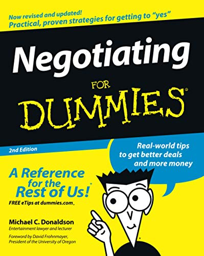 9780470045220: Negotiating For Dummies