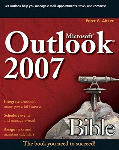 9780470046456: Microsoft Outlook 2007 Bible