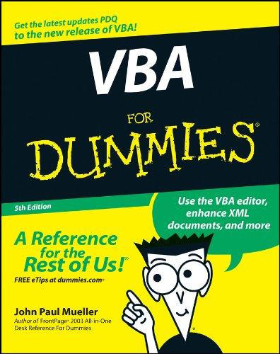 9780470046500: VBA For Dummies